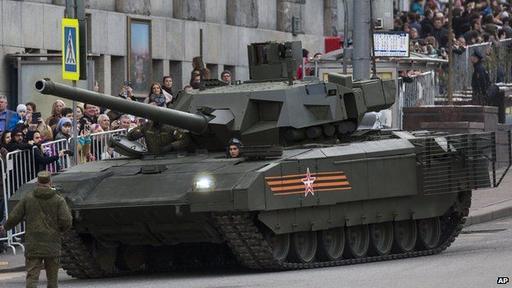 La estrella del show: el Armata T-14. ¿El predecesor de un tanque robot?