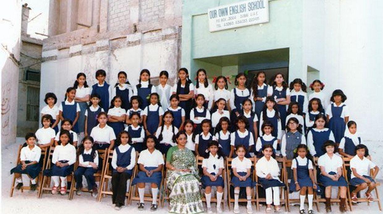 La primera escuela del grupo la abrieron sus padres en la década de los años 60 para la comunidad india en Dubai. (Foto: BBC Mundo)