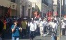 Tía María: manifestantes protagonizan disturbios en Arequipa