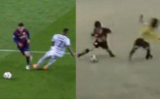 Messi ya 'rompía' cinturas como a Boateng a los 9 años en Perú