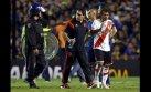 River: jugadores atacados con gas por hinchas de Boca (FOTOS)