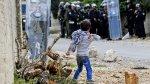 El niño palestino que se enfrentó solo a las tropas de Israel - Noticias de efemérides