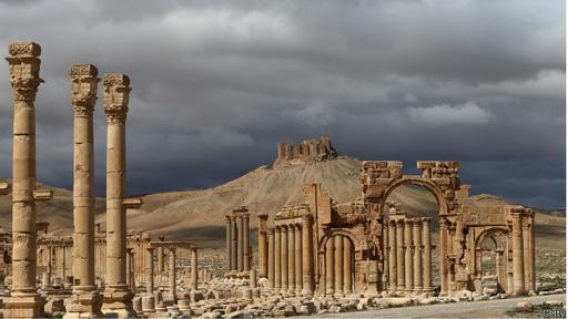 Multitud de turistas visitaban las ruinas de la ciudad antes de estallar la guerra en Siria.