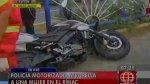 Rímac: policía atropella con su moto a una mujer en Av. Tacna - Noticias de accidente tacna