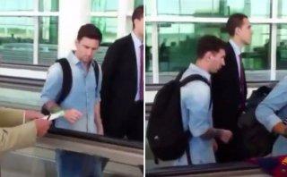 Messi es criticado luego de no dar autógrafo a anciano [VIDEO]