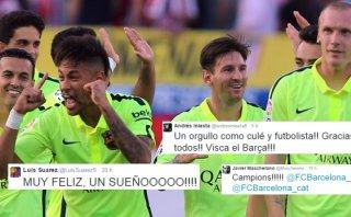Barcelona y la alegría de sus campeones en las redes sociales
