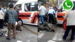 WhatsApp: así se dio accidente de esta mañana en La Victoria - Noticias de san borja