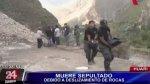 Huari: una persona murió sepultada tras deslizamiento de rocas - Noticias de vehículos recuperados