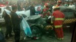 Carretera Central: así terminó el auto que chocó con un tráiler - Noticias de accidente de transito