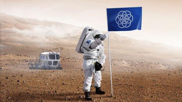 Estudiante diseña bandera internacional de la Tierra para Marte