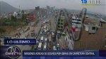 Carretera Central: congestión por cierre para obras del Metro - Noticias de rutas alternas