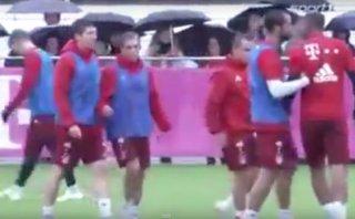 Lewandowski y Boateng discutieron y los mandaron a vestuarios