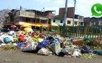 WhatsApp: basura se acumula en vías de Villa María del Triunfo