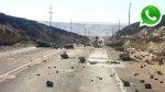 WhatsApp: escasez de alimentos y quema de autos en Marcona - Noticias de escasez de agua potable