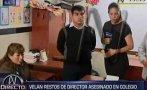 SJL: familia de director asesinado niega disputa por colegio