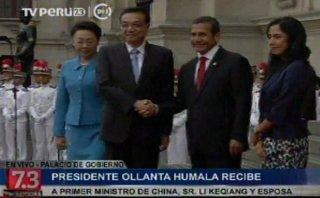 Ollanta Humala se reúne con primer ministro chino, Li Keqiang