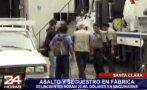 Santa Clara: asaltan y secuestran a trabajadores de fábrica