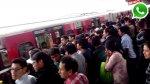 WhatsApp: tren averiado ocasionó problemas en el Metro de Lima - Noticias de pasajero