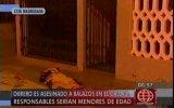 Callao: sicarios adolescentes acribillaron a obrero en Mi Perú