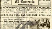 A 75 años del terremoto que azotó Lima y el Callao