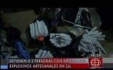 SJL: detienen a una pareja que escondía 130 bombas caseras