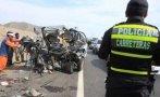 Ica: 4 muertos y 6 heridos dejó choque de bus contra un camión