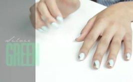 [Video] Aprende a pintar tus uñas de color verde y plateado
