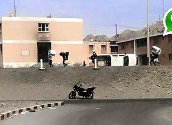 WhatsApp: saquean viviendas y queman autos en Marcona [FOTOS]