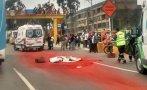 Panamericana Sur: mujer murió al caer de motocicleta en Surco