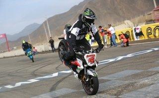 Se realizó un espectacular show de motos en La Chutana