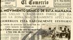 A 75 años del terremoto que azotó Lima y el Callao - Noticias de temblor