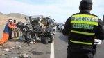 Ica: 4 muertos y 6 heridos dejó choque de bus contra un camión - Noticias de accidente en ica