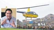 SJL: helicóptero adquirido en gestión de Burgos será subastado