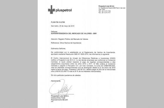 Consorcio Camisea perdió arbitraje contra el Perú ante el Ciadi