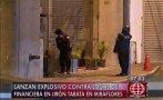 Miraflores: granada de guerra explotó en la calle Tarata
