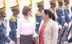 Reina Letizia visita en Honduras obras ejecutadas por España