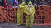 Paraguayos marchan en contra de los transgénicos de Monsanto