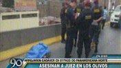 Cuerpo de juez fue abandonado en la Panamericana Norte