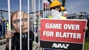 FIFA: protestas contra Blatter fuera de congreso en Suiza