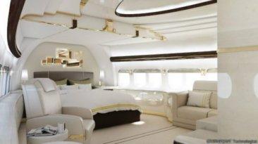 Imágenes de un Boeing 747 convertido en una mansión voladora