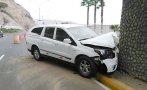 Costa Verde: taxi chocó a la altura de playa Barranquito
