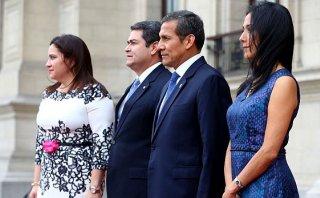 Ollanta Humala recibió al presidente de Honduras