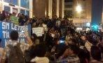 Plantón en la Fiscalía por detenidos en protesta por Tía María