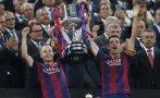 Barcelona: el festejo del título de la Copa del Rey (FOTOS)