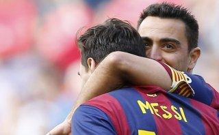 """Xavi: """"Es un lujo tener a Messi, el mejor jugador del mundo"""""""