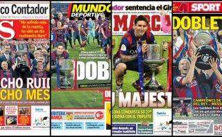 Barcelona: prensa se rindió a Messi tras ganar la Copa del Rey