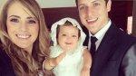 Gino Pesaressi compartió fotos del bautizo de su hija Gia - Noticias de gino pesaressi