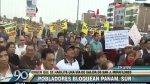 Panamericana Sur: bloquean vía auxiliar para pedir acceso a SJM - Noticias de puente alipio ponce