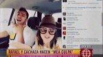 Rafael Cardozo y 'Cachaza', criticados por manejar sin cinturón - Noticias de carol reali