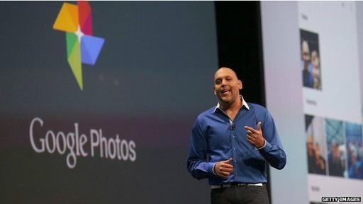 Presnetación de Google Photos durante la conferencia I/O de Google 2015.